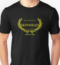 Old School Skinhead, in gold (yellow) Unisex T-Shirt