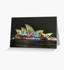 Vivid Sydney Opera House Greeting Card