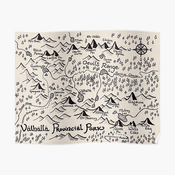 Valhalla Map Poster