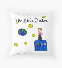 The Little Doctor (open background) Throw Pillow