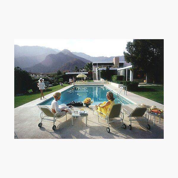 Poolside Mountain Photographic Print