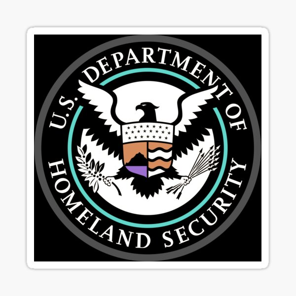 Emblem: United States Department of Homeland Security, Government department Sticker