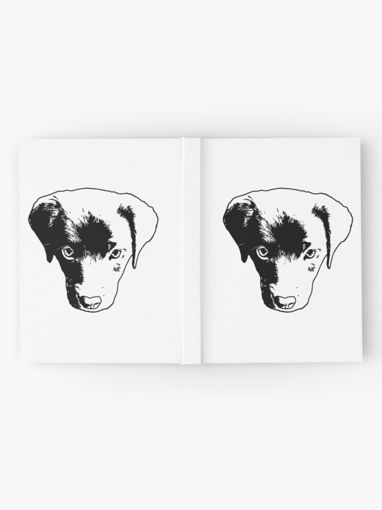 Alternate view of Monochrome Puppy Head Vector Hardcover Journal