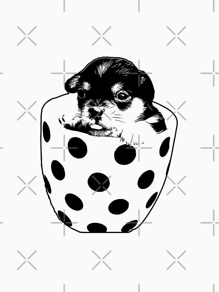 Pup In A Cup Vector by tribbledesign