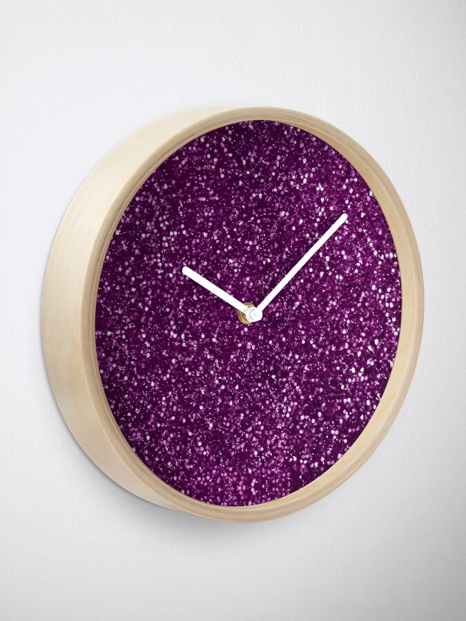 Alternate view of Sparkly Pink Fuchsia Glitter Clock