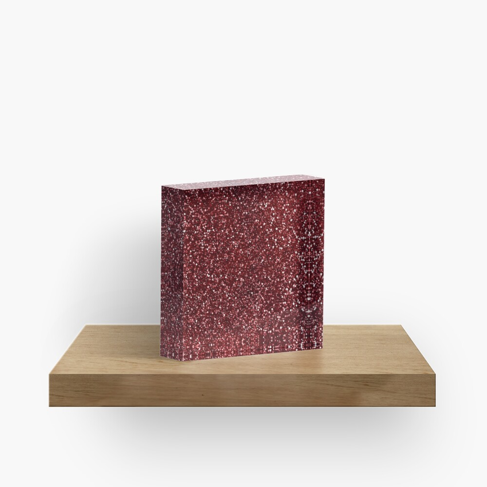 Sparkly Red Glitter Acrylic Block