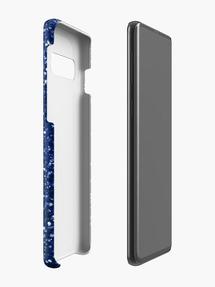 Alternate view of Sparkly blue Glitter Case & Skin for Samsung Galaxy