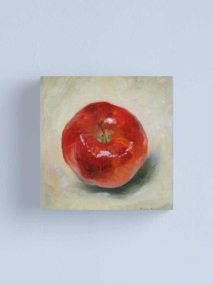 Alternate view of Red Apple - Still Life Oil Painting Canvas Print