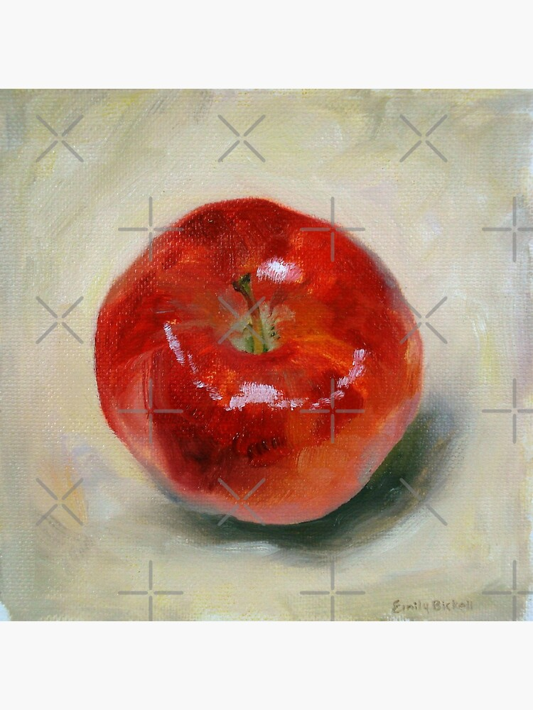 Red Apple - Still Life Oil Painting by EmilyBickell