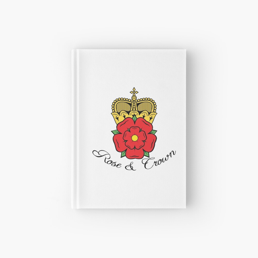 Colourful Rose and Crown Vector Hardcover Journal