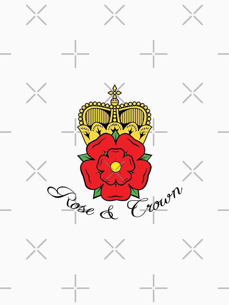 Colourful Rose and Crown Vector by tribbledesign