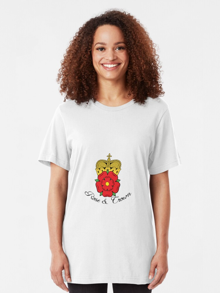 Alternate view of Colourful Rose and Crown Vector Slim Fit T-Shirt