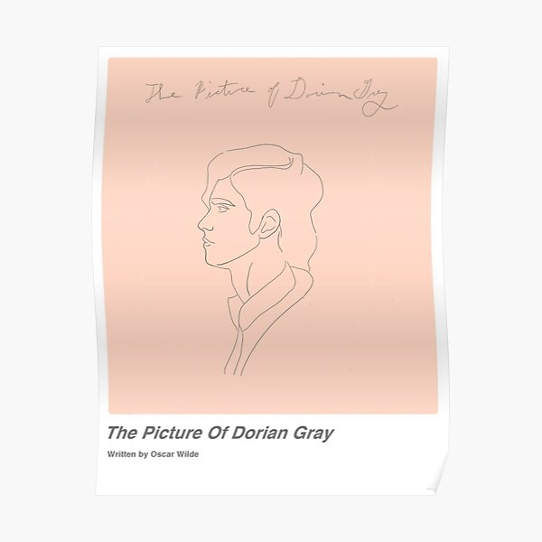 Dorian Gray Minimalist Poster Poster
