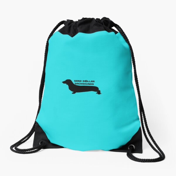Sand Dollar Dachshunds Drawstring Bag