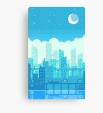 Blue Moon City Canvas Print