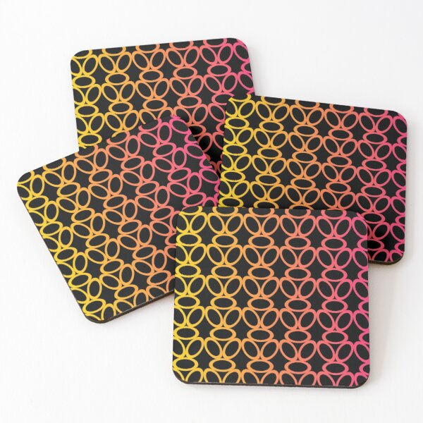 Summer Circles Coasters (Set of 4)