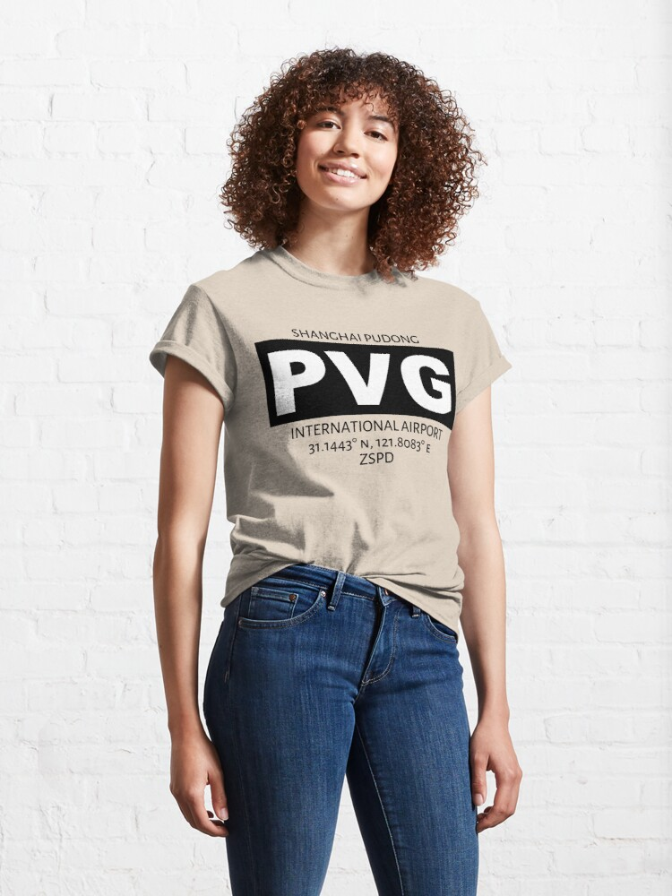 Alternate view of Shanghai Pudong International Airport PVG Classic T-Shirt