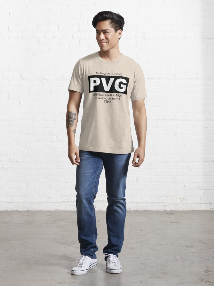 Alternate view of Shanghai Pudong International Airport PVG Essential T-Shirt