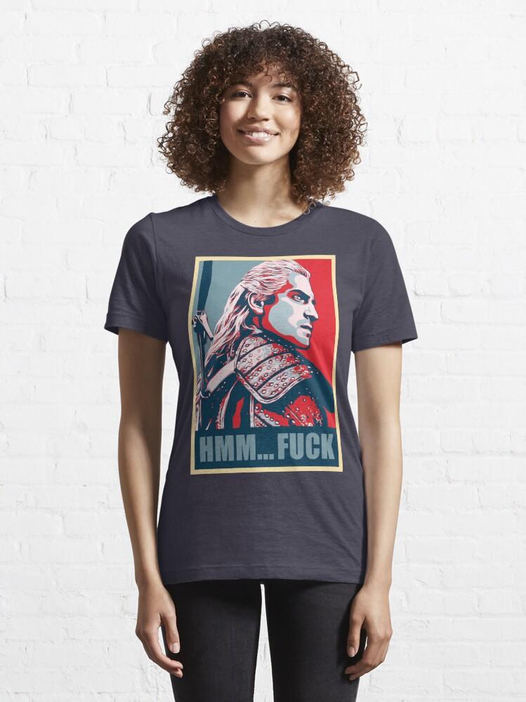 Alternate view of Hmm... F*ck! Essential T-Shirt