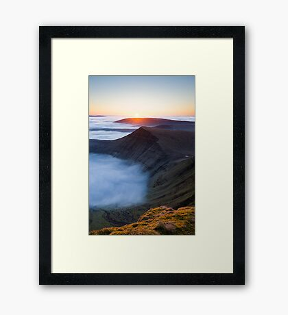 Sunrise over Cribyn, Brecon Beacons National Park, Wales. Framed Print