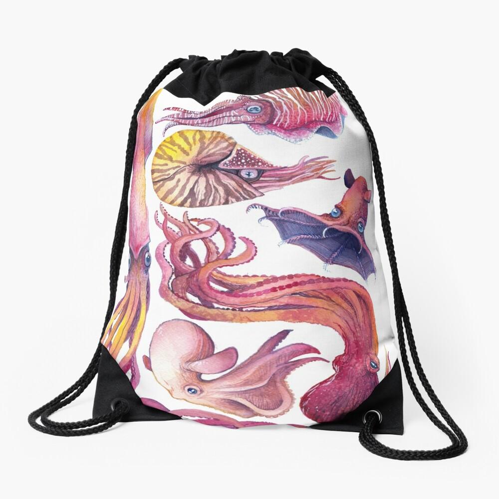 Cephalopods Drawstring Bag
