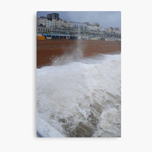 Wet & Windy in Brighton Metal Print