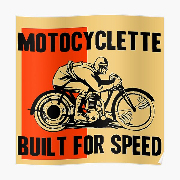 MOTOCYCLETTE Poster