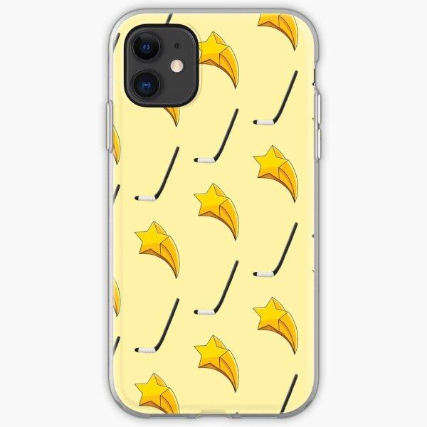 Shooting Stars + Hockey Sticks Pattern iPhone Soft Case