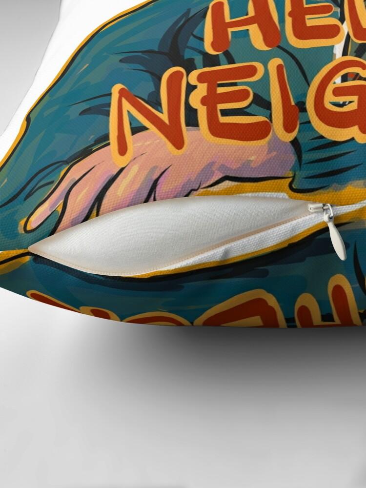 Alternate view of Hello Neighbor Throw Pillow