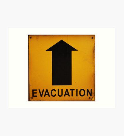 Evacuation Route Art Print