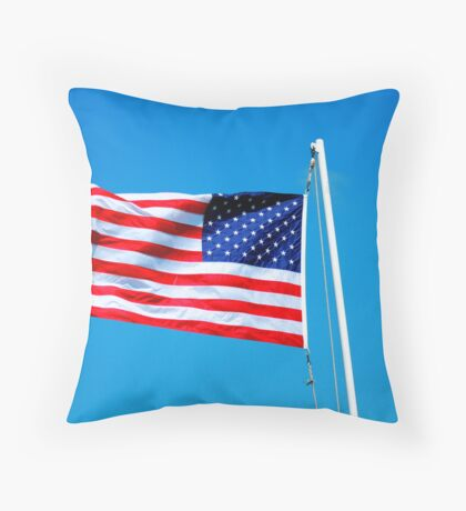 Red, White & Blue Throw Pillow