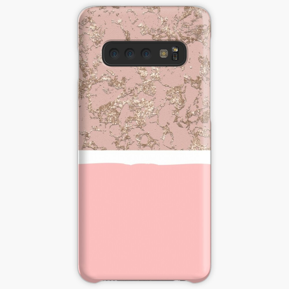 Rose Gold And Rose Stone Background Case Skin For Samsung Galaxy By Jenmag Redbubble