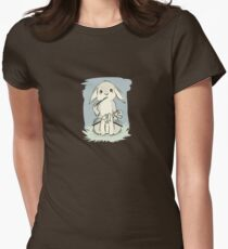 Writing bunny Women's Fitted T-Shirt