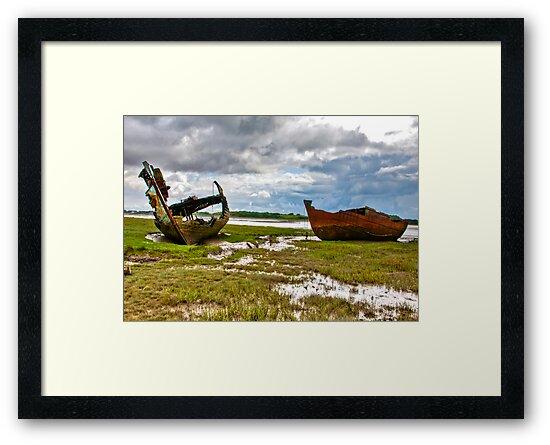 The Wrecks - Fleetwood Marsh by Trevor Kersley