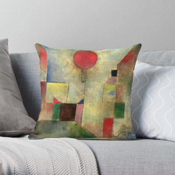 Paul Klee | Red Balloon | Klee-inspired Fine Art w/ Signature Throw Pillow