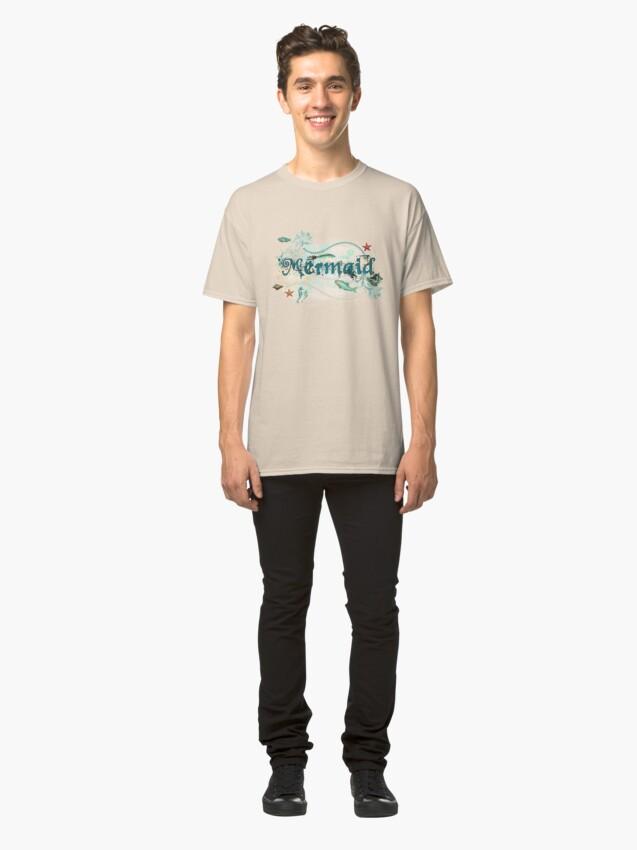 Alternate view of Mystical Mermaid Design Classic T-Shirt
