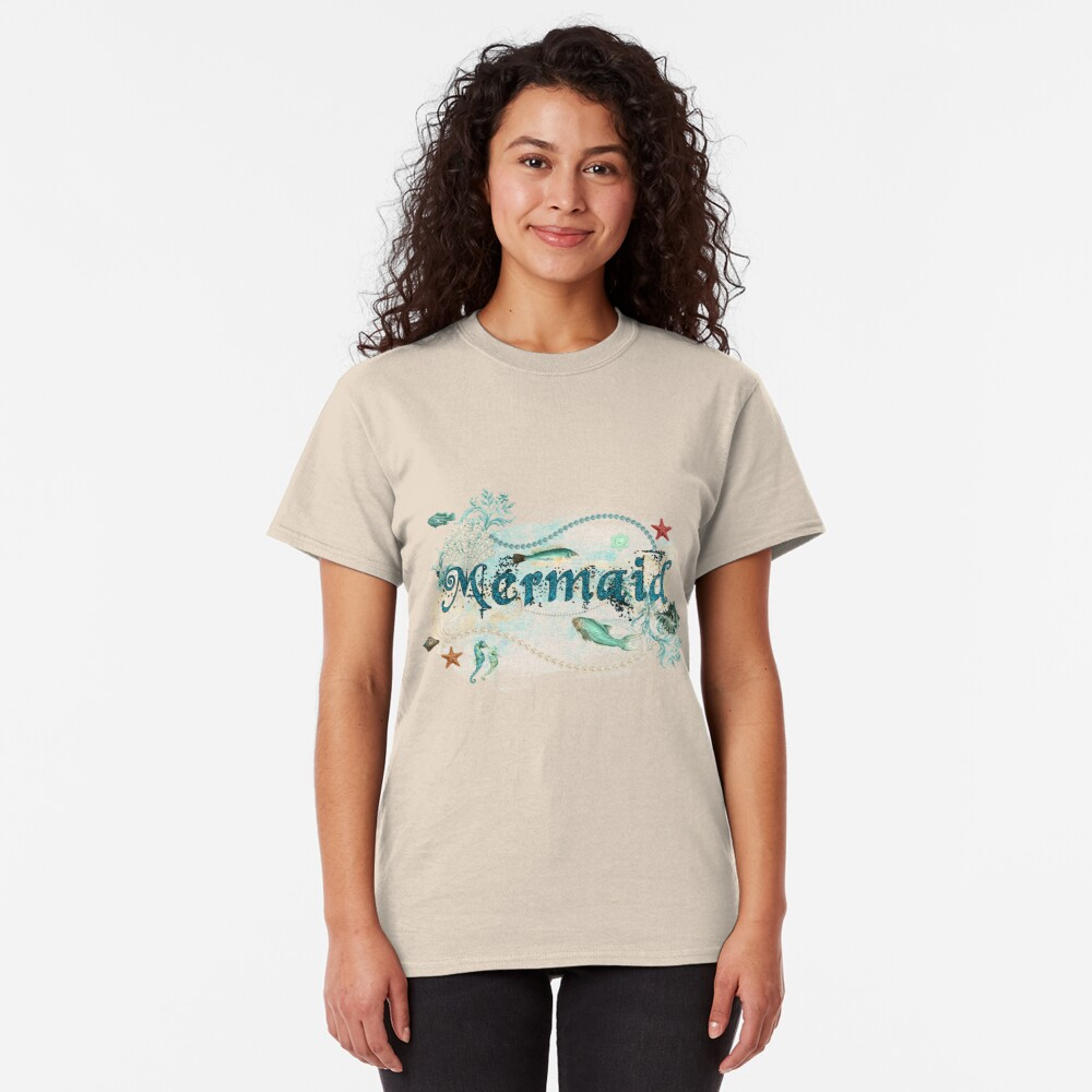 Mystical Mermaid Design Classic T-Shirt