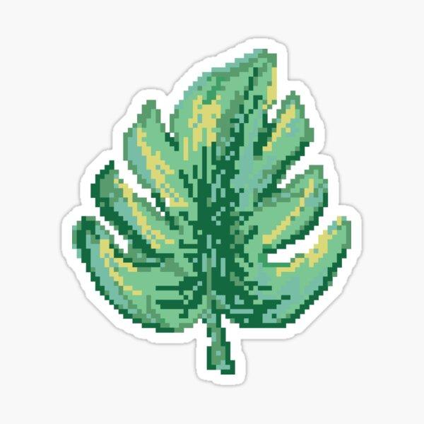Pixel Monstera Leaf Sticker