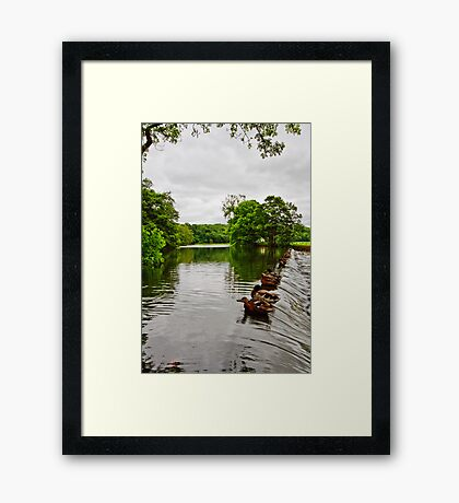 The Weir at Whalley Framed Print
