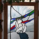 STAIN GLASS POLAR BEAR AT TRUE NORTH by eoconnor