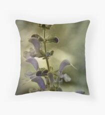 Vintage Flowers Wall Decor Throw Pillow
