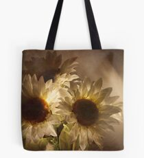 Light touched sunflowers Tote Bag