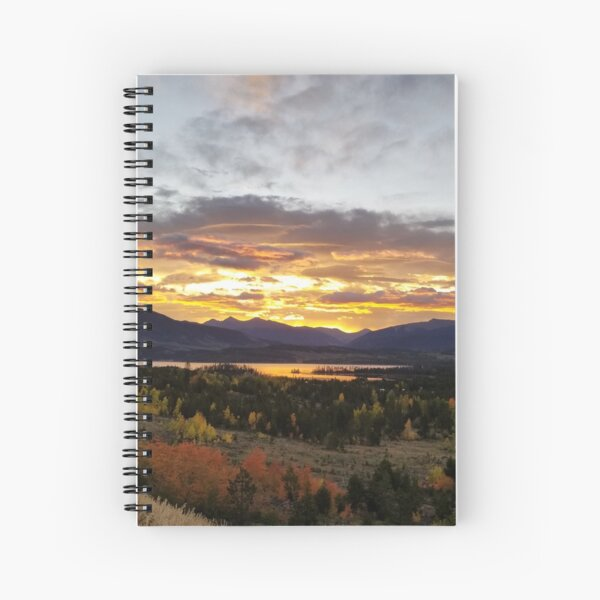 Sunrise over Dillon Reservoir, Colorado Spiral Notebook