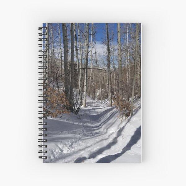 Aspen Glade in Snow, Beaver Creek, Colorado Spiral Notebook