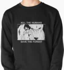 Sudadera cerrada Mata a los humanos, salva el bosque