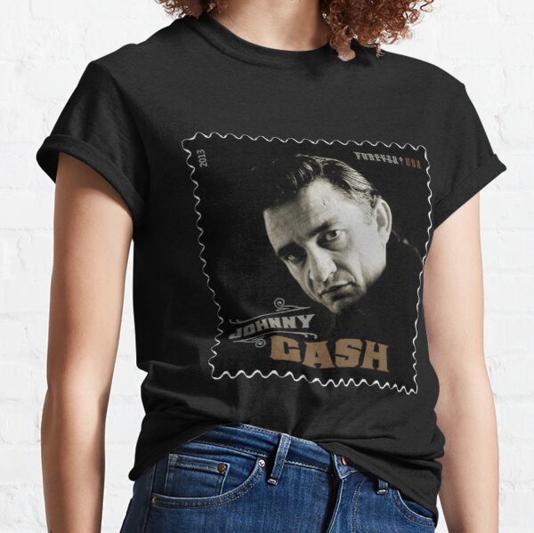 Official Johnny Cash Label T-Shirt Orange Blossom Special At San Quentin