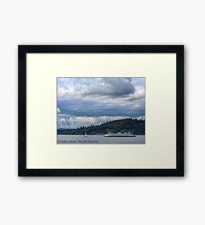 Puget Sound (Kingston Ferry) Framed Print