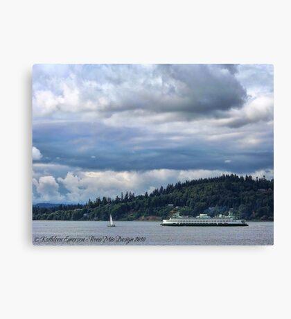 Puget Sound (Kingston Ferry) Canvas Print