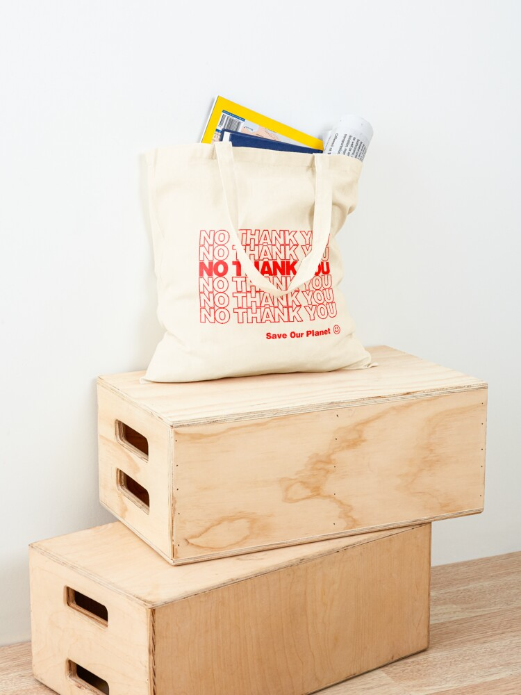 Alternate view of No Thank You   Hipster/Trendy/Tumblr Meme Tote Bag