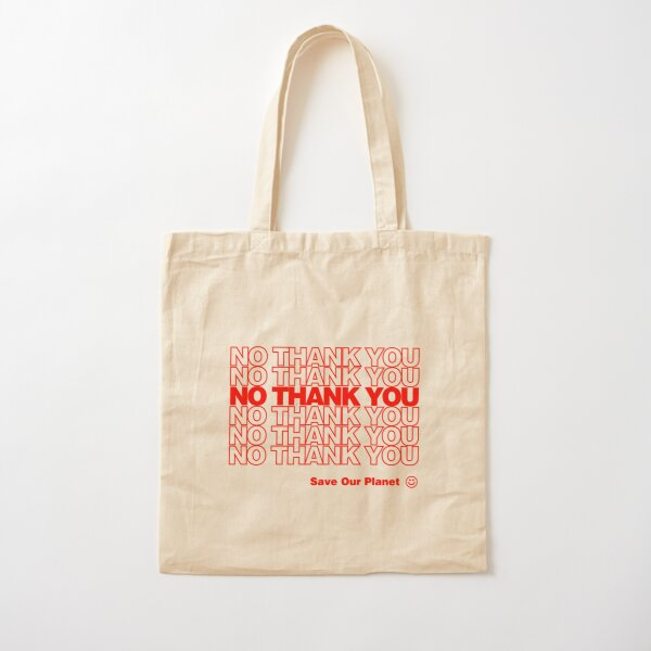 No Thank You | Hipster/Trendy/Tumblr Meme Cotton Tote Bag